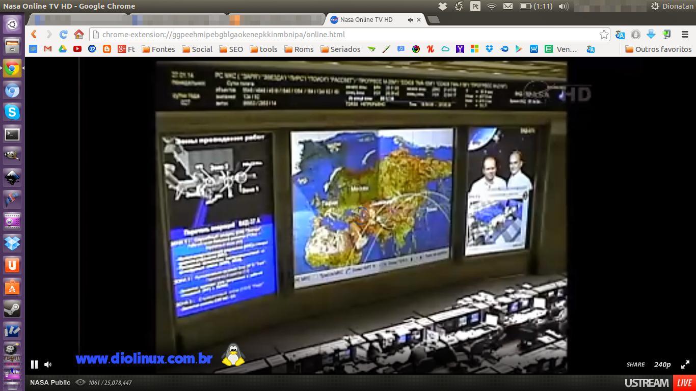 Assista o Canal da NASA pelo Google Chrome