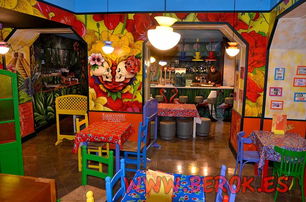 Berok graffiti mural profesional en barcelona decoraci n for Decoracion de pared para restaurante