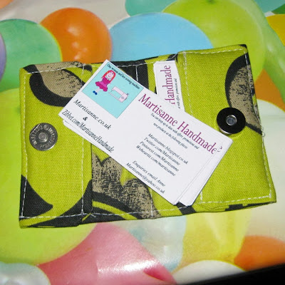 Fabric credit card holder green