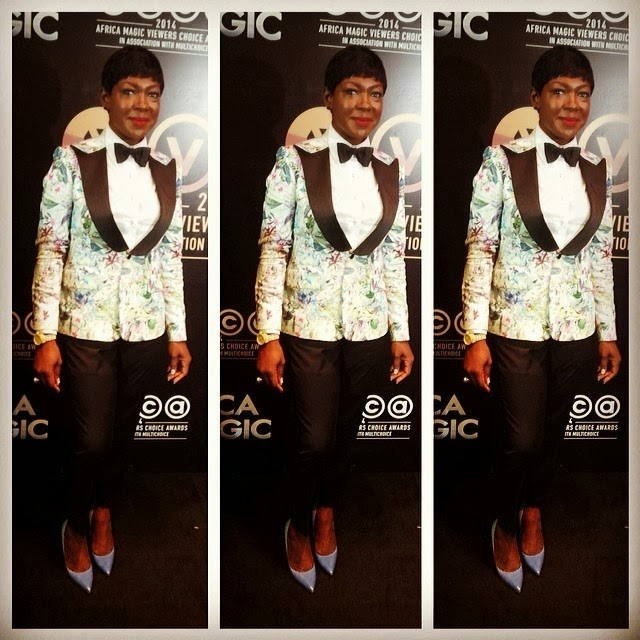 Susan Peters says of her AMVCAs Outfit: 'Only someone who doesn't know about fashion will hate this tuxedo'