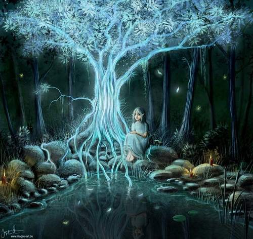 11-Tree-of-Light-Jeremiah-Morelli-Fantasy-Digital-Art-from-a-Middle-School-Teacher-www-designstack-co