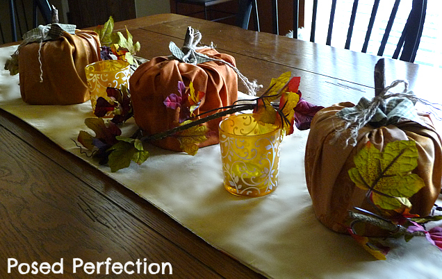 Posed perfection a touch of fall for Casual dining table centerpieces