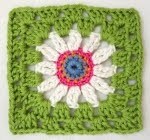 Free blue-eyed daisy square pattern - click on image for link