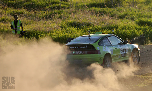 Honda CRX Rally Car at 2013 Oregon Trail Rally