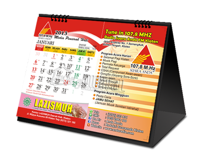 Desain Kalender Duduk