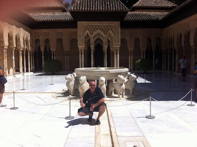 aleman en Alhambra de Granada