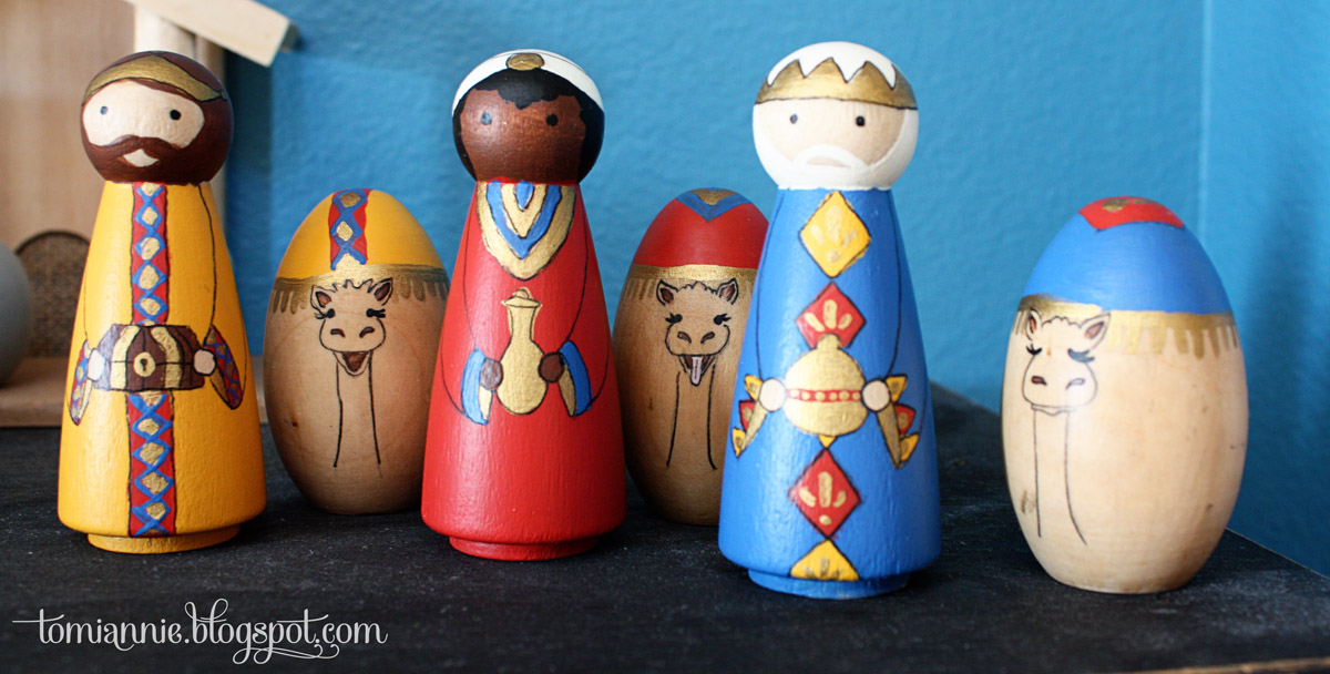 Just What I Squeeze In Peg Doll Nativity