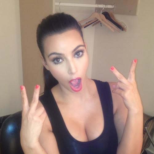 Kim Kardashian enjoyed instagram pics