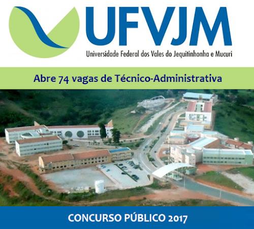 UFVJM lança edital de concurso para 74 vagas em MG