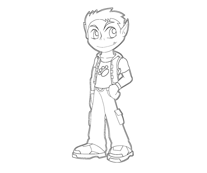 Coloring Pages Beast Boy : Teen titans go beastboy free colouring pages