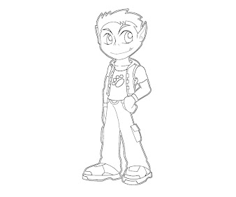 #2 Beast Boy Coloring Page