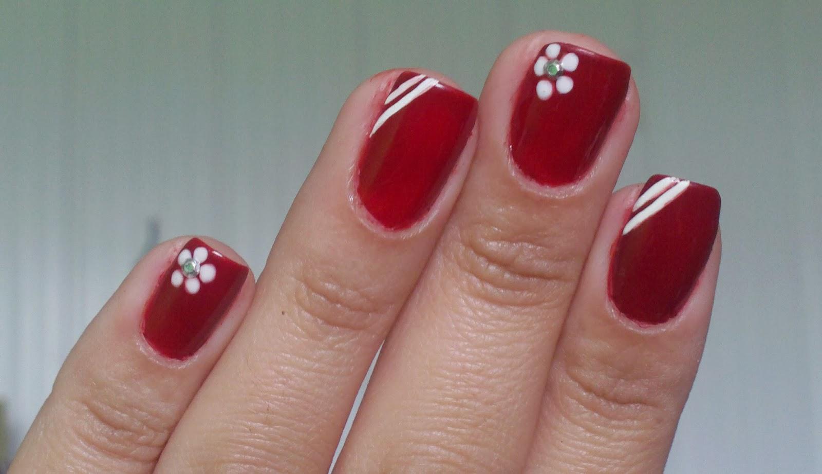 Bela e Simples Nail Art 2013 11 24 -> Decoracao Unhas Vermelhas