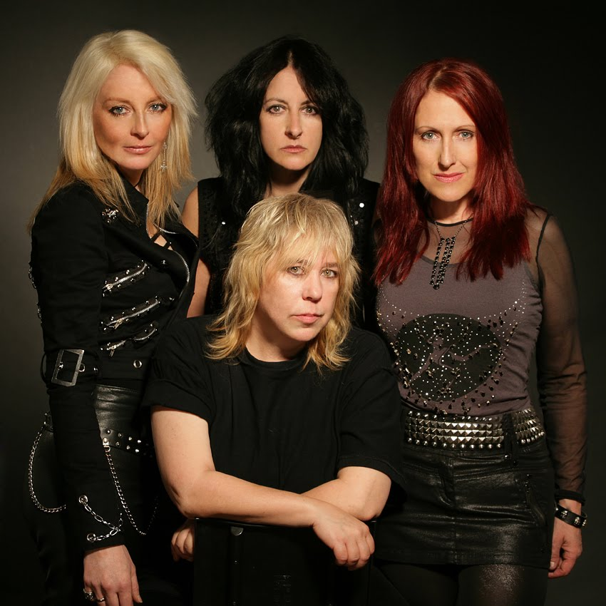 Rock Goddess e Girlschool (foto atual):