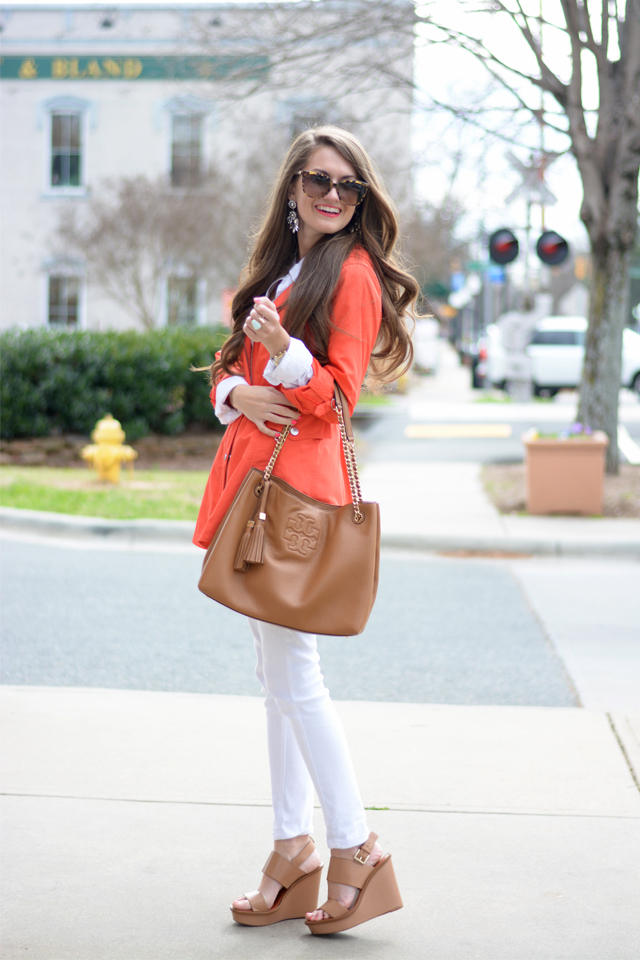 Cute look with trench coat