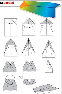 бумажный самолетик 15
