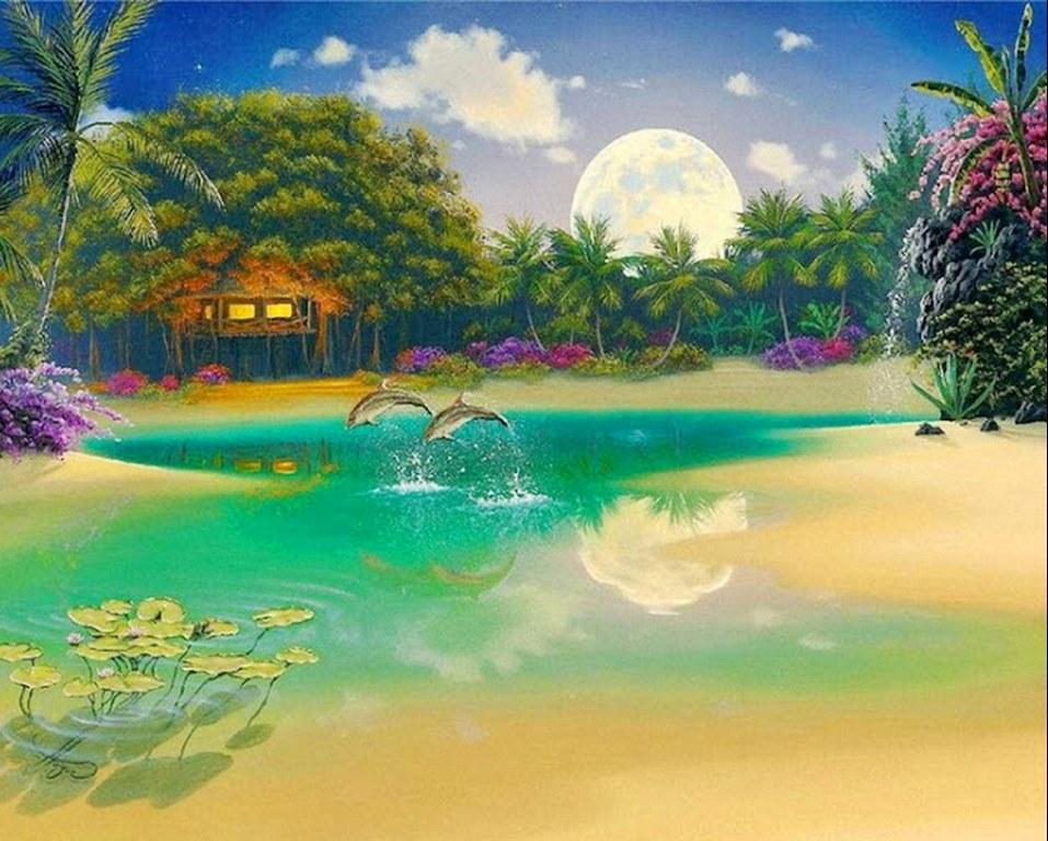 Im genes arte pinturas paisajes mar timos hawaianos for Ver colores de pintura