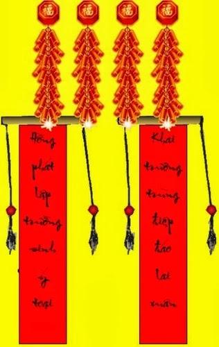 Hình ảnh câu đối đỏ ngày tết, cau doi do