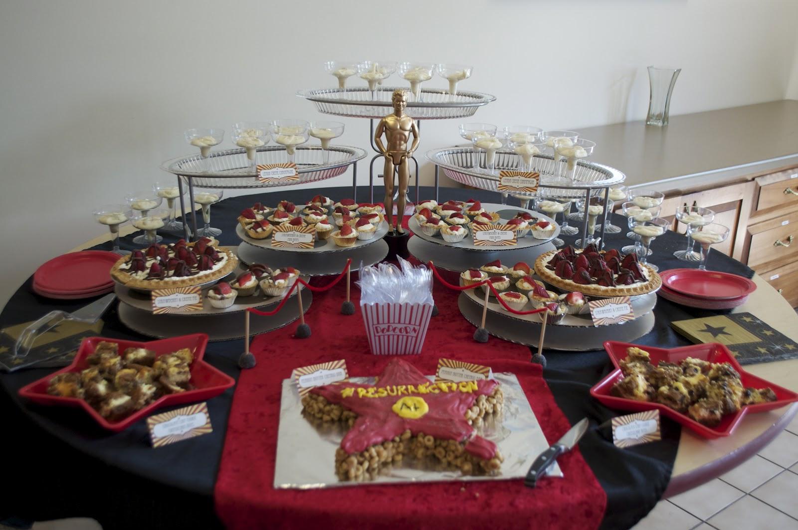 Pardiy Hollywood Themed Dessert Table