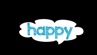 Plaquinha happy - criação Blog PNG-Free