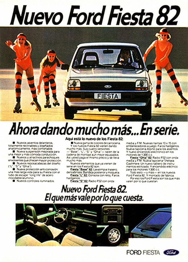Ford Fiesta Publicidad creativa de los años 80