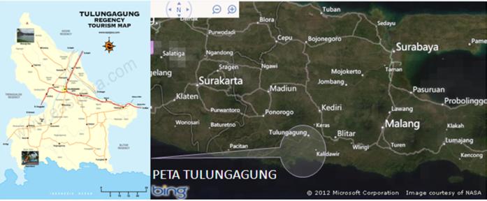 Peta Geografis Tulungagung