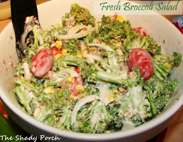 Fresh Broccoli Salad #salad #broccoli #gardenharvest #sidedish #fresh #recipe