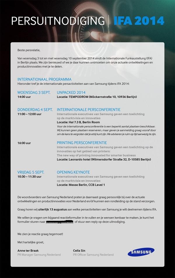 Samsung ra mắt Galaxy Note 4 ngày 3/9