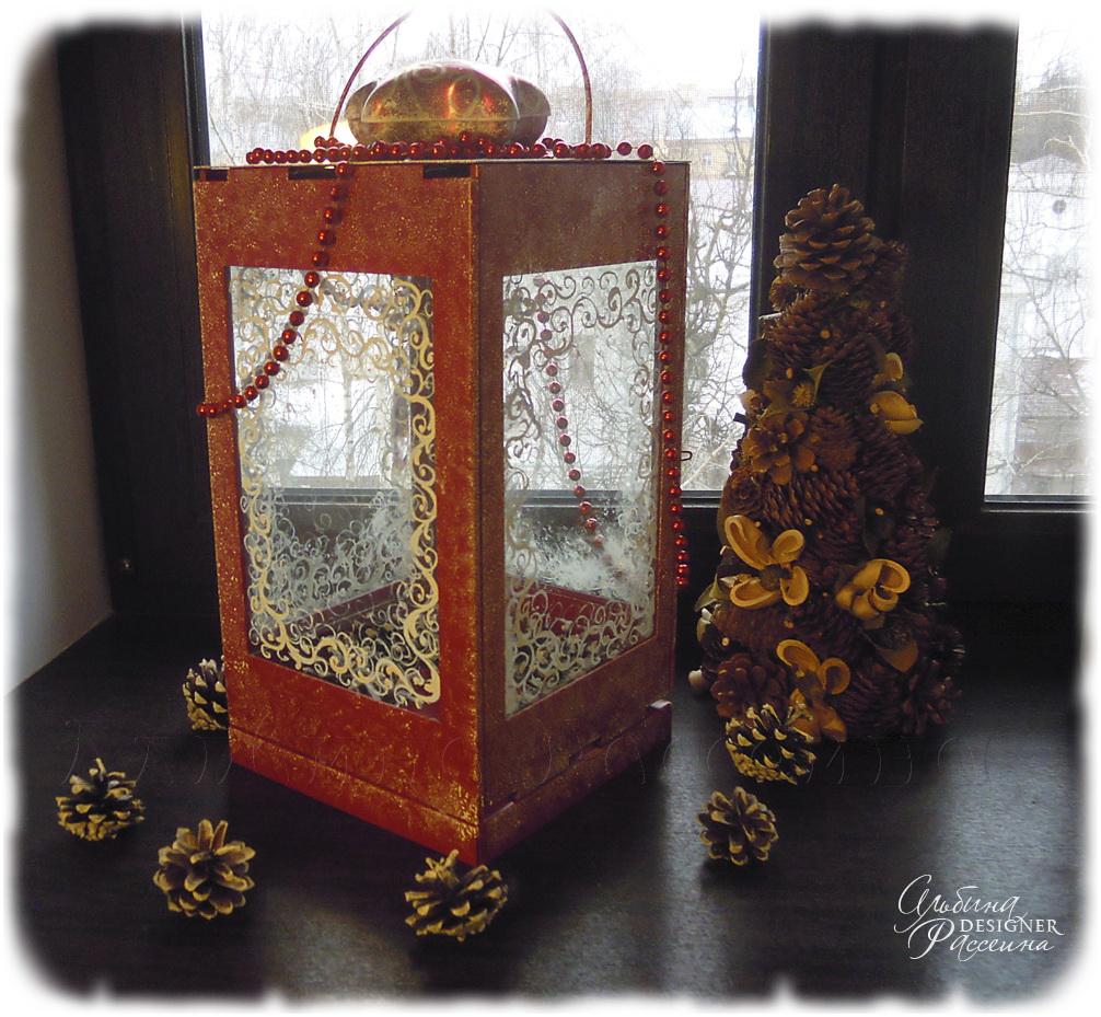 Ручная роспись. Hand Made. Фонарь для свечи. Декор.