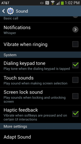 How to turn off thekeyboard sound on the Galaxy S4