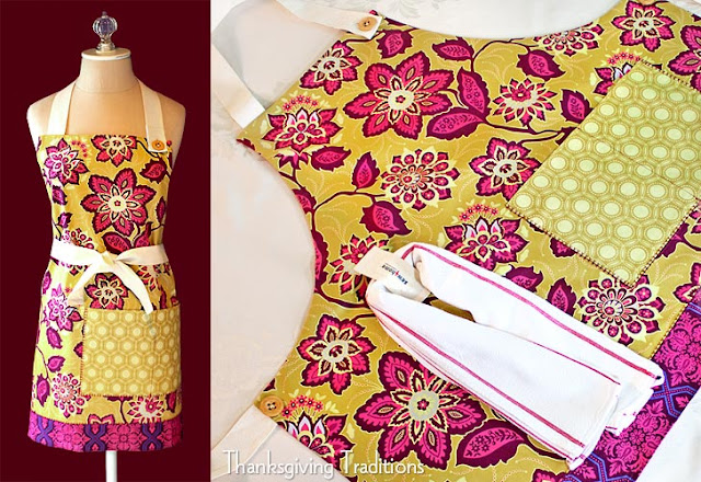 fully lined thanksgiving apron tutorial