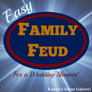 Easy Family Feud Game for a Wedding Shower