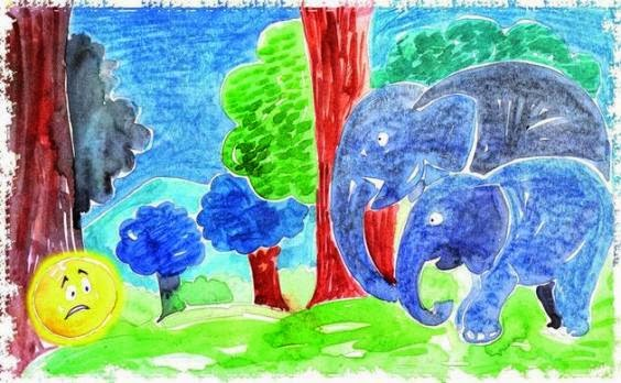Sun and Elephant - Sun Visits Planet Earth Story