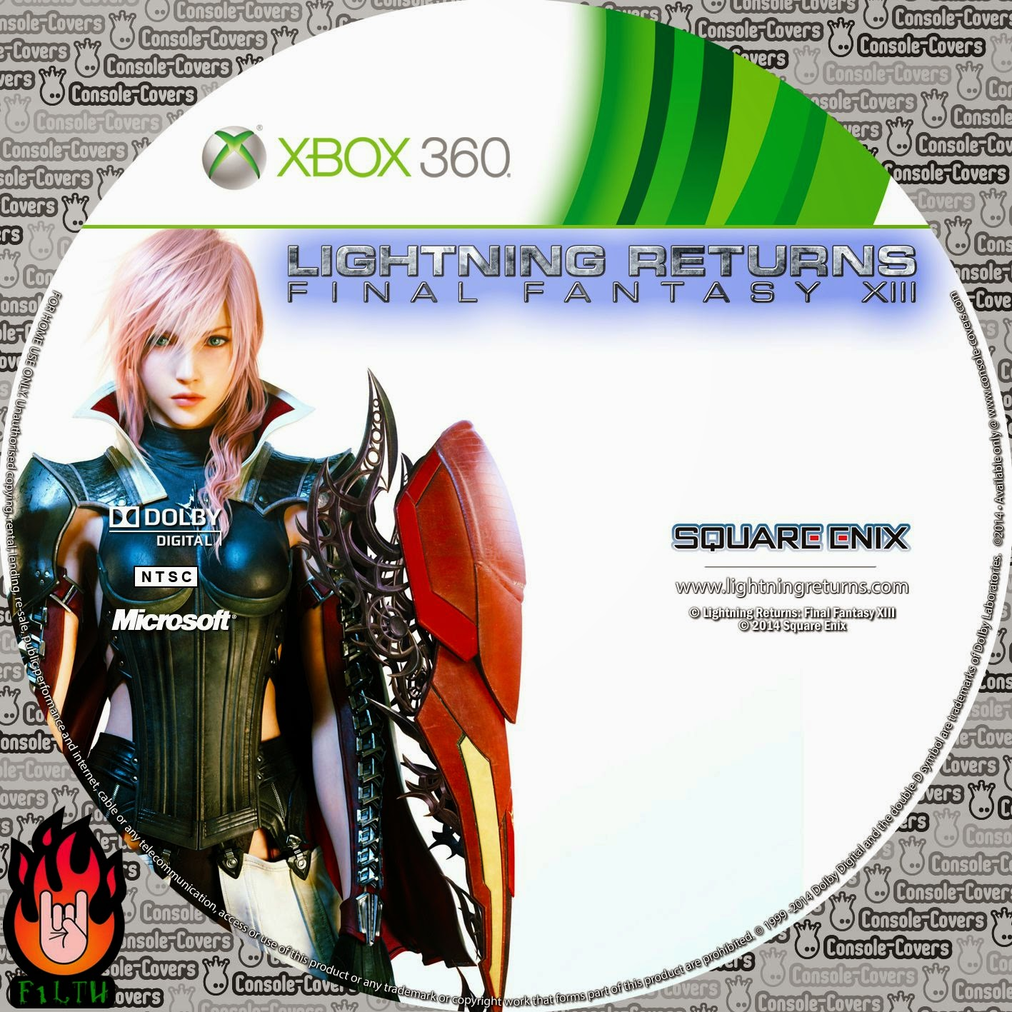 Label Lightning Returns Final Fantasy XIII Xbox 360