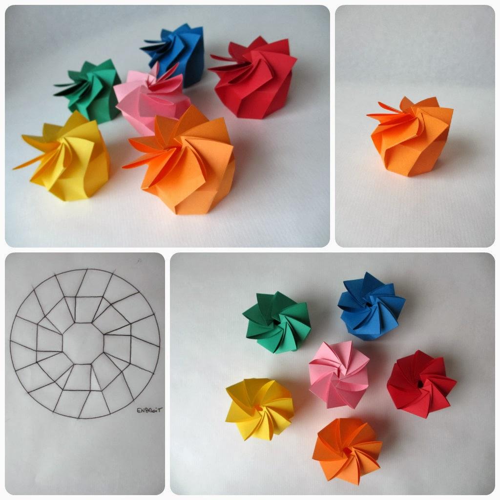 tadaam bo te en spirale origami. Black Bedroom Furniture Sets. Home Design Ideas