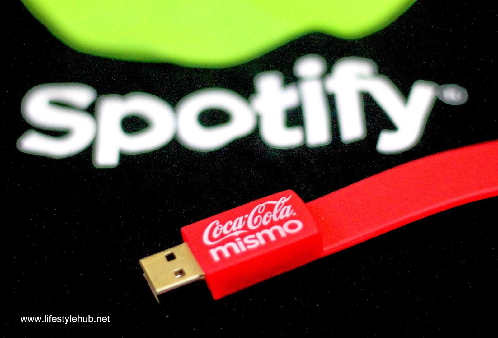 coca-cola and spotify