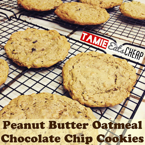 ... Eats Cheap: Cheap Eats :: Peanut Butter Oatmeal Chocolate Chip Cookies