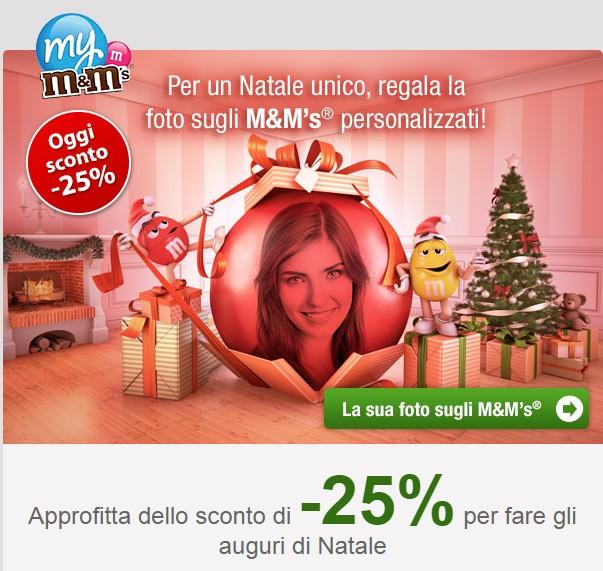 Natale M&M's personalizzati