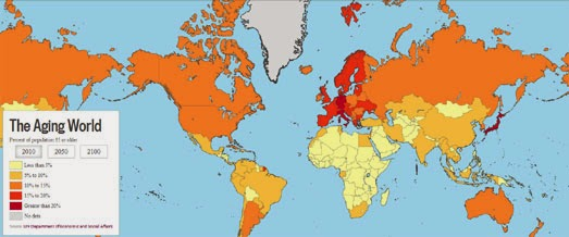 Maps Mania Europe Isnt Dying Its Aging - Us aging population interactive map