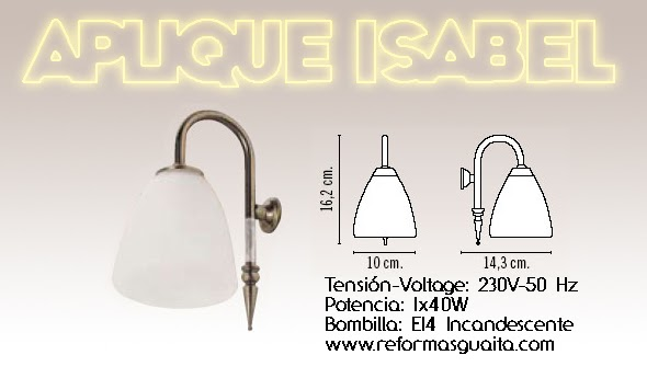 Iluminacion Baño Apliques:Apliques de luz para el espejo del baño V ~ Reformas Guaita