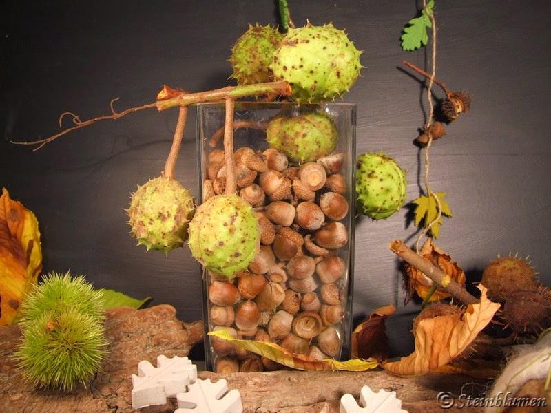Herbstdeko Eicheln
