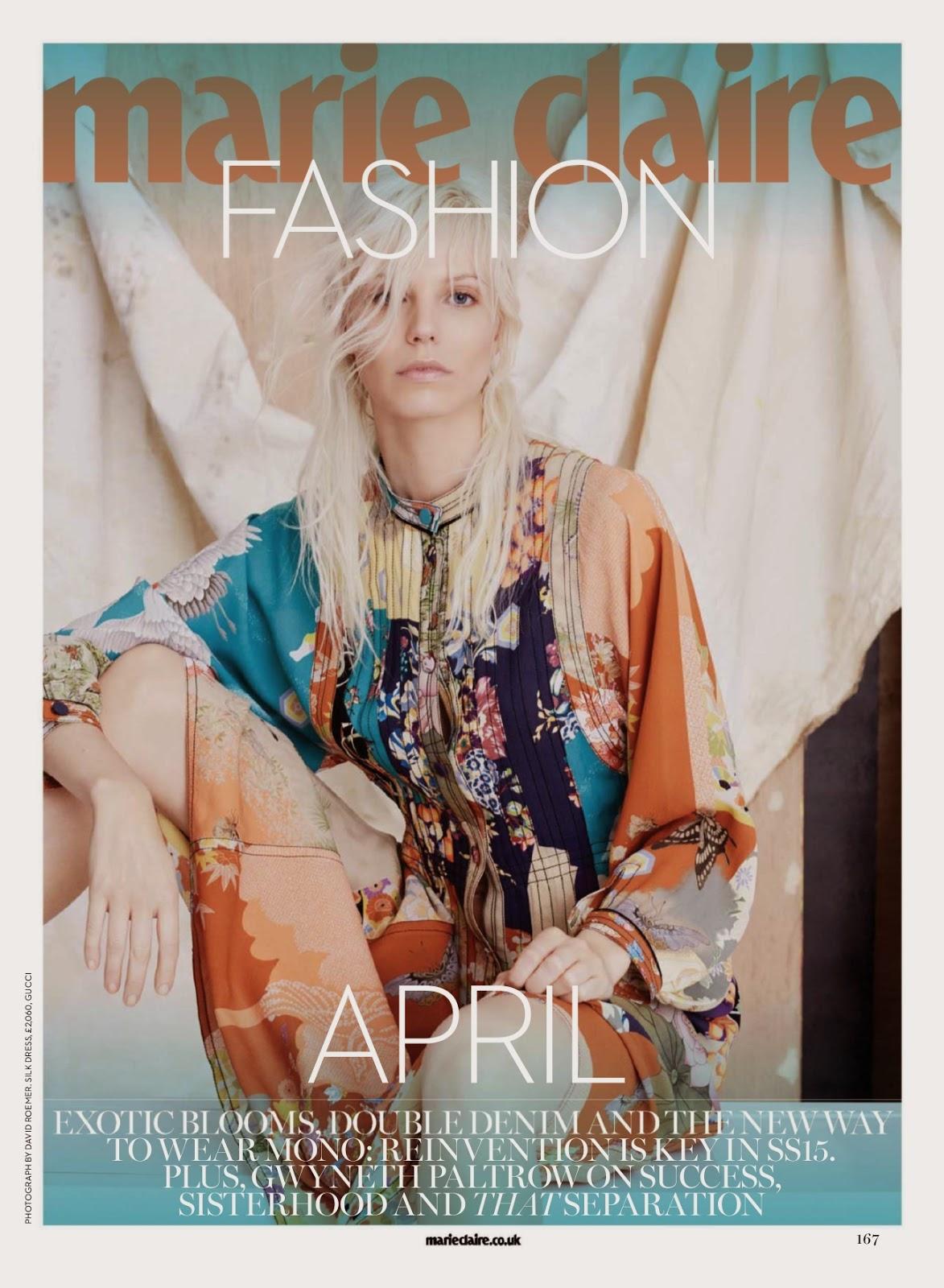 Fashion Model @ Ragnhild Jevne - Marie Claire UK, April 2015