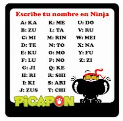 Busca tu nombre en idioma ninja xD :