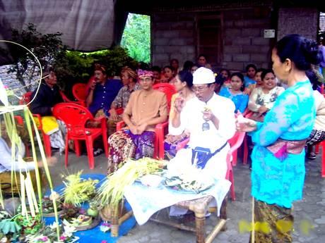 Balinese wedding ceremony in Bali