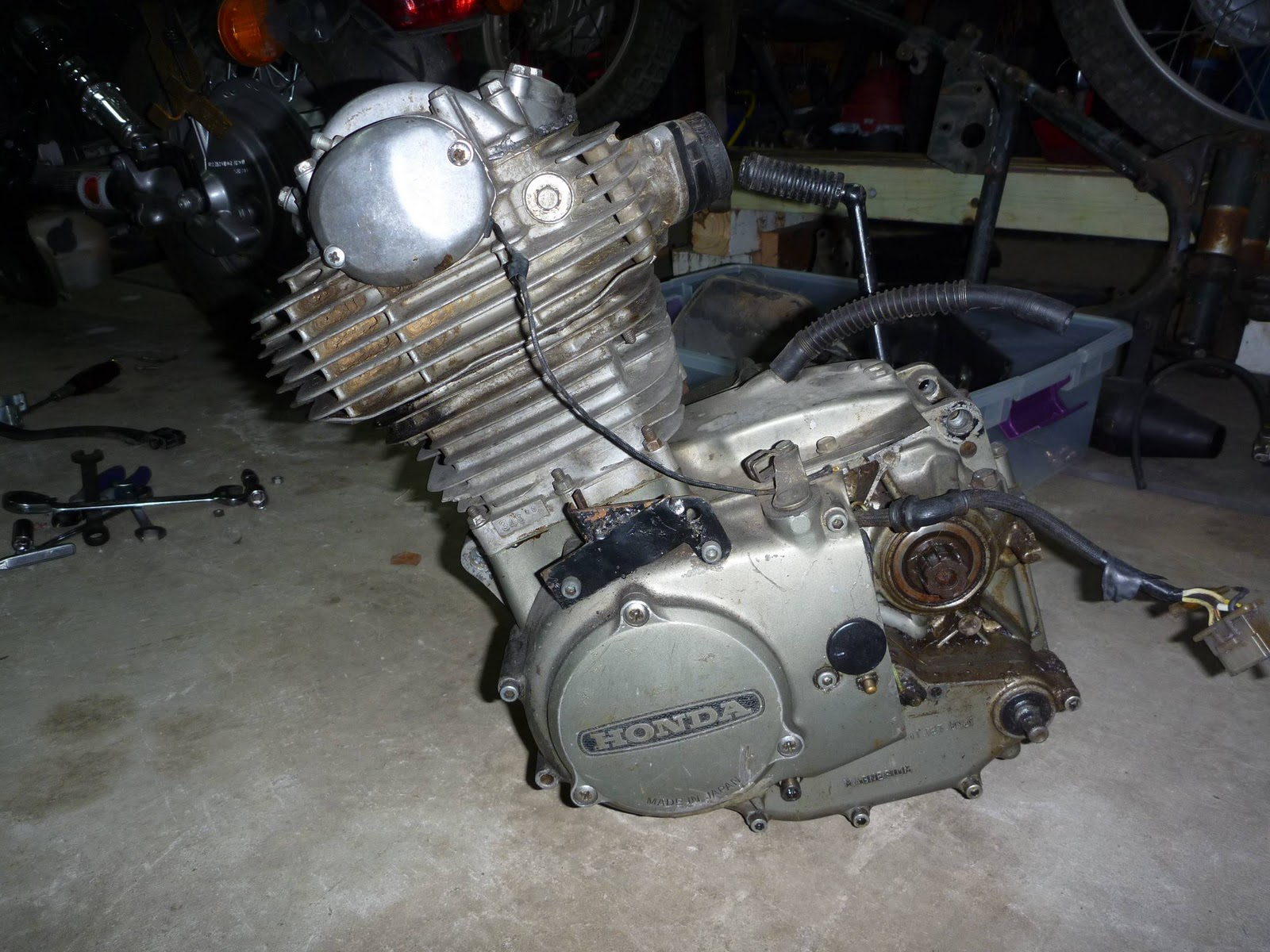 1974 Honda Xl350 Engine Removal on cb 750 engine rebuild