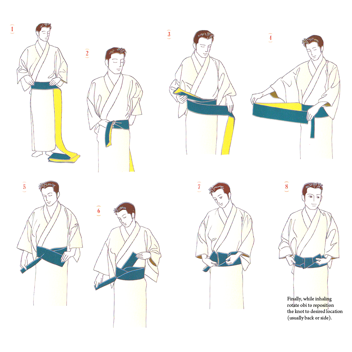 How to tie a belt in kimono Learn to do it right 16