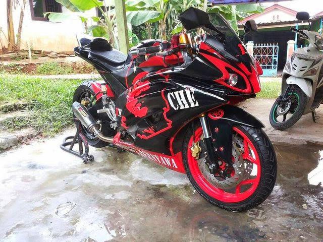 Modifikasi Vixion Sporty Ala R6