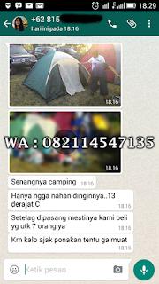 penjualan tenda dome