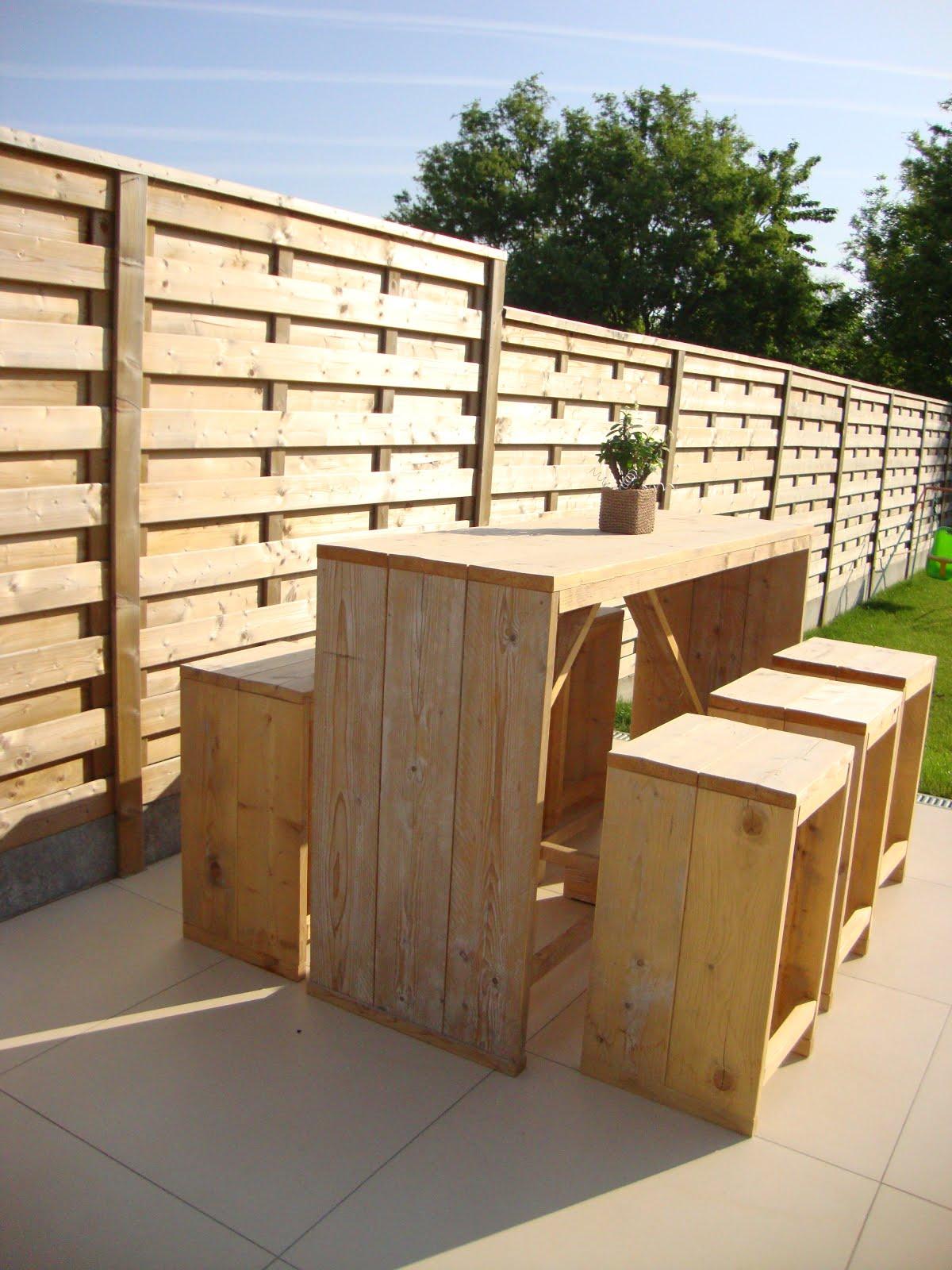 Ylzy design maatwerk in hout foto 39 s steigerhout meubelen poorten en terrassen - Buiten terrassen ...
