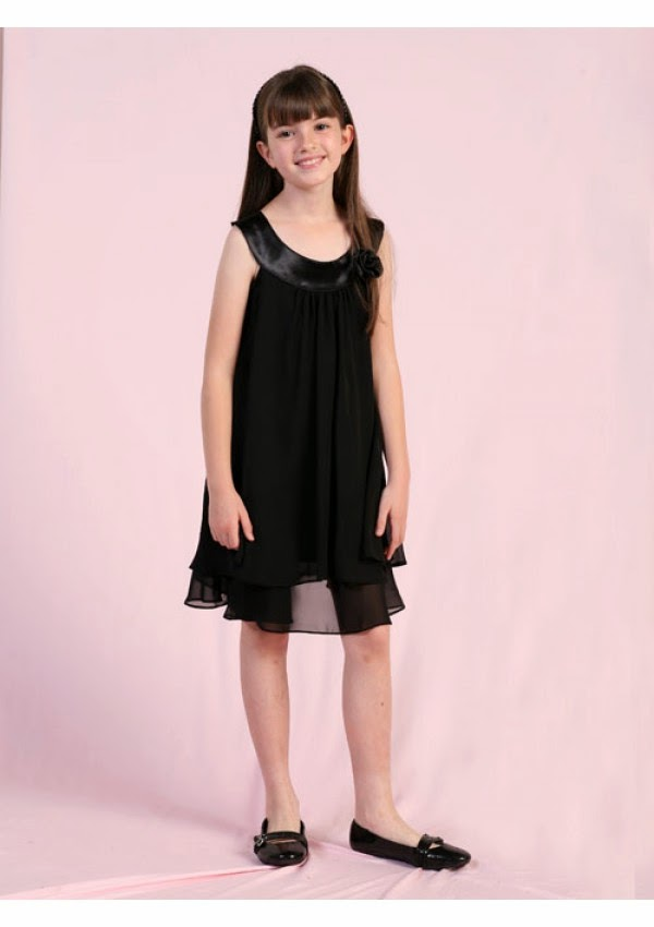 New A-Line Chiffon Bateau Flower Girl Dresses