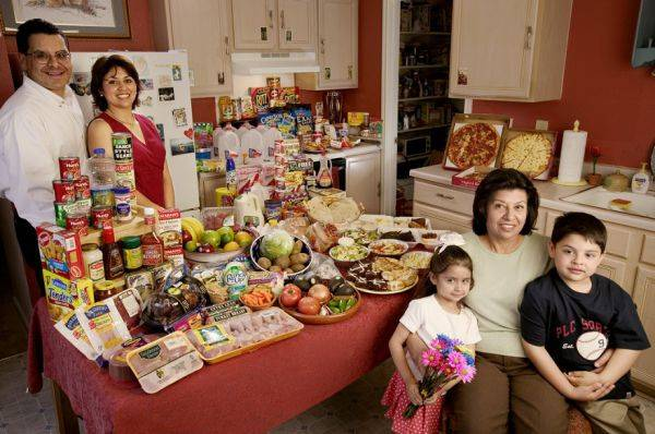 The Fernandezes family spends around $242 per week.